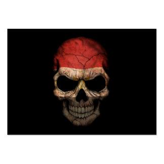 Customizable Egyptian Flag Skull Business Card
