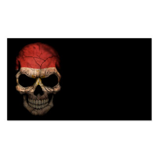 Customizable Egyptian Flag Skull Business Card Template