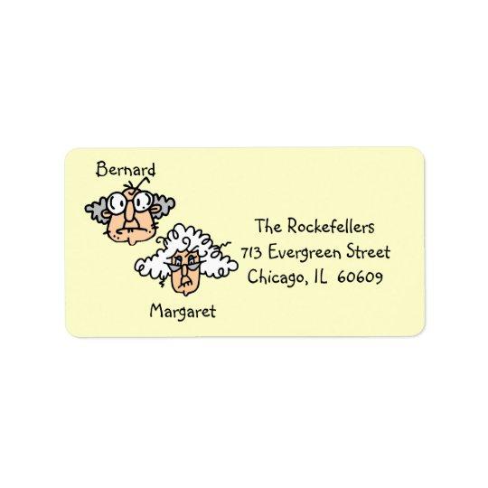 Customizable Elderly Couple Address Labels