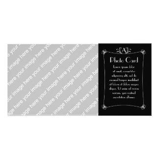 Customizable Elegant Border With Monogram Photo Card