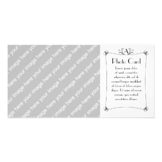 Customizable Elegant Border With Monogram Photo Card Template