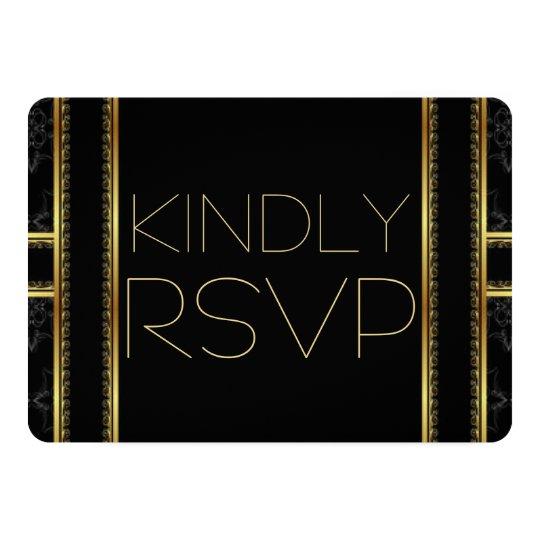 Customizable Elegant Gold WEDDING INVITATION