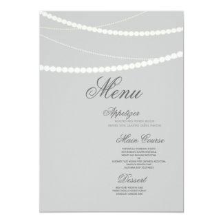 "Customizable Elegant Light Strings Menu Card 5"" X 7"" Invitation Card"