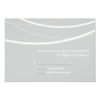 Customizable Elegant Light Strings RSVP Card Personalized Invite