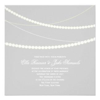 Customizable Elegant Light Strings Wedding Invite