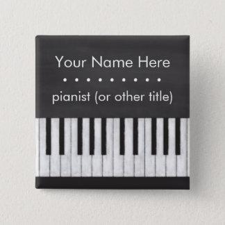 Customizable, Elegant, Modern Chalkboard Keyboard 2 Inch Square Button