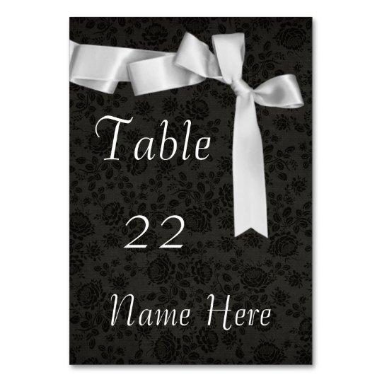 Customizable Elegant WEDDING STYLE TABLE CARD
