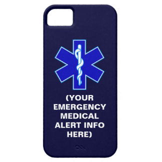 Customizable Emergency Medical Alert iPhone Cases