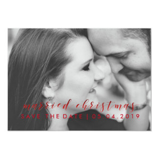Customizable Engaged Save the Date Christmas Card