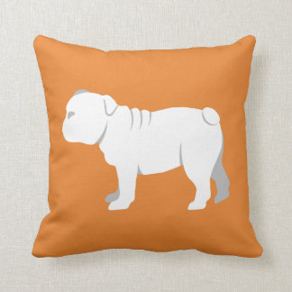 Customizable English Bulldog Silhouette Pillow