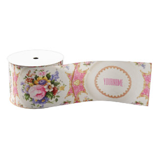 Customizable English Rose Garden Victorian Ribbon Grosgrain Ribbon