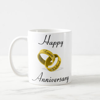 Customizable Engraved Rings - anniversary gift Coffee Mug