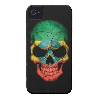 Customizable Ethiopian Flag Skull Case-Mate iPhone 4 Case