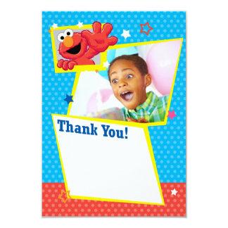 "Customizable Extreme Elmo Thank You 3.5"" X 5"" Invitation Card"