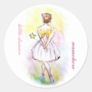 Customizable: Fairy dancer Classic Round Sticker