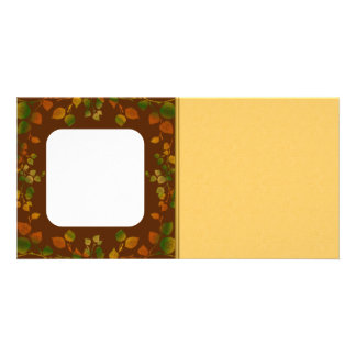 Customizable Fall Leaves Photo Card