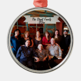 Customizable Family Photo Christmas Ornament