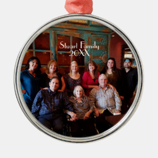 Customizable Family Photo Christmas Ornament