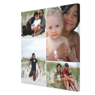 Customizable Family Photo Collage Canvas Print
