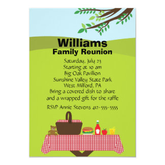 Customizable Family Reunion Card