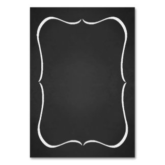 Customizable Faux Chalkboard Table Number Cards