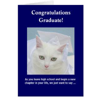 Customizable Feminine Graduation Card