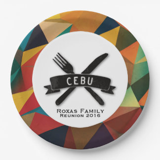 Customizable Fiesta in Cebu 9 Inch Paper Plate