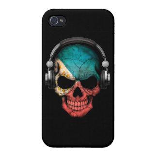 Customizable Filipino Dj Skull with Headphones iPhone 4 Cover