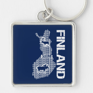 Customizable FINLAND MAP key chain