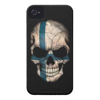 Customizable Finnish Flag Skull Case-Mate iPhone 4 Cases