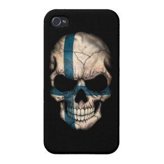 Customizable Finnish Flag Skull iPhone 4 Covers
