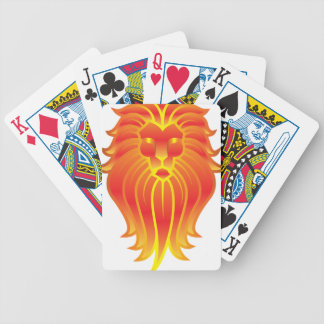 Customizable Fire Leo Zodiac Lion Bicycle Playing Cards