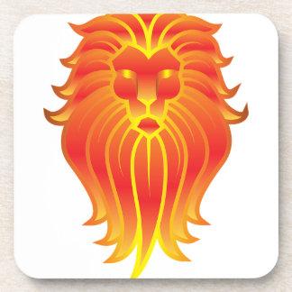 Customizable Fire Leo Zodiac Lion Drink Coasters