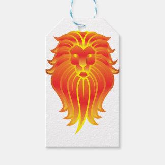 Customizable Fire Leo Zodiac Lion Gift Tags