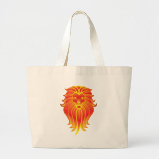 Customizable Fire Leo Zodiac Lion Large Tote Bag