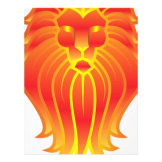 Customizable Fire Leo Zodiac Lion Letterhead
