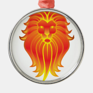 Customizable Fire Leo Zodiac Lion Metal Ornament