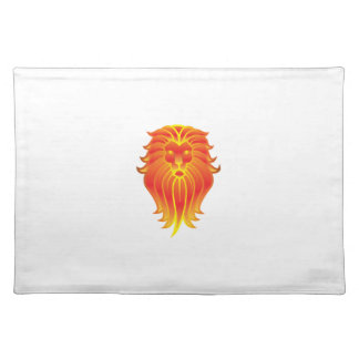 Customizable Fire Leo Zodiac Lion Placemat