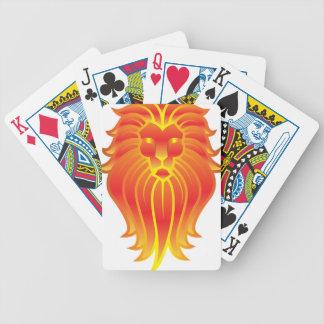 Customizable Fire Leo Zodiac Lion Poker Deck