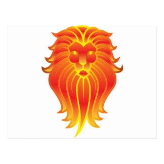 Customizable Fire Leo Zodiac Lion Postcard