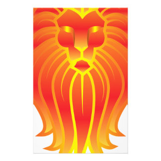 Customizable Fire Leo Zodiac Lion Stationery