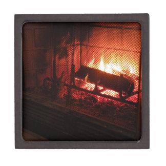 Customizable Fireplace Gift Box Premium Keepsake Boxes