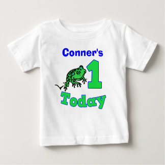Customizable First Birthday Boy Froggy Shirt