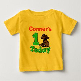 Customizable First Birthday Boy Puppy Shirt