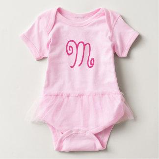 Customizable First Initial Pink Tutu Baby Fashion Shirt