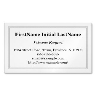 Customizable Fitness Expert Magnetic Business Card