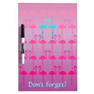 Customizable: Flamingo two Dry Erase White Board