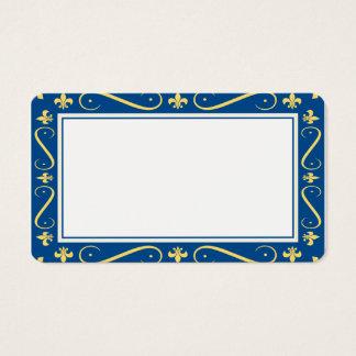 Customizable Fleur de lis Border Blank Card