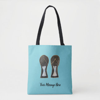 Customizable Flip Flops Dress Shoes Art Tote Bag