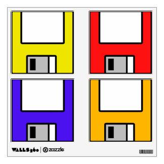 customizable floppy disks wall sticker